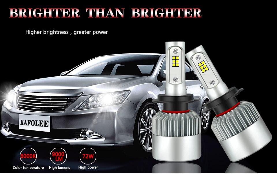 -1_01Car Headlight Bulbs 2Pcs White H7 Led H4 Hi Lo Emitting Color 6000K H11 H10 h27 9008 H13 12v H1 H3 24v Csp Cob Chips