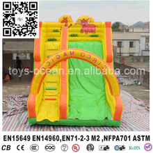 2017 new designed attractive lovely giant pig inflatable dry slide for sale