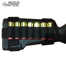 ROCOTACTICAL Tactical Shotgun Buttstock Hunting Shell Holder Ammo Carrier Holder Pouch Cartridge 7 Round for Outdoor Sport