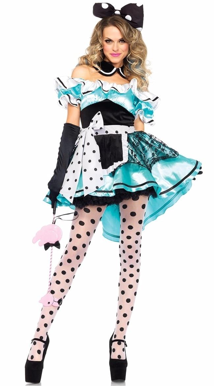 Women/'s Thigh High Poker Pattern Fancy Dress Hold Ups Alice In Wonderland Hen Do