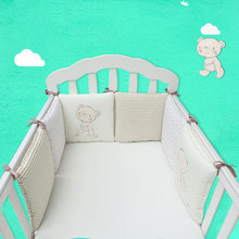 Buy 6Pcs/Set Baby Crib Bed Bumper Cushion Fence Cover Cotton Baby Protector Safety for $22.66 in AliExpress store