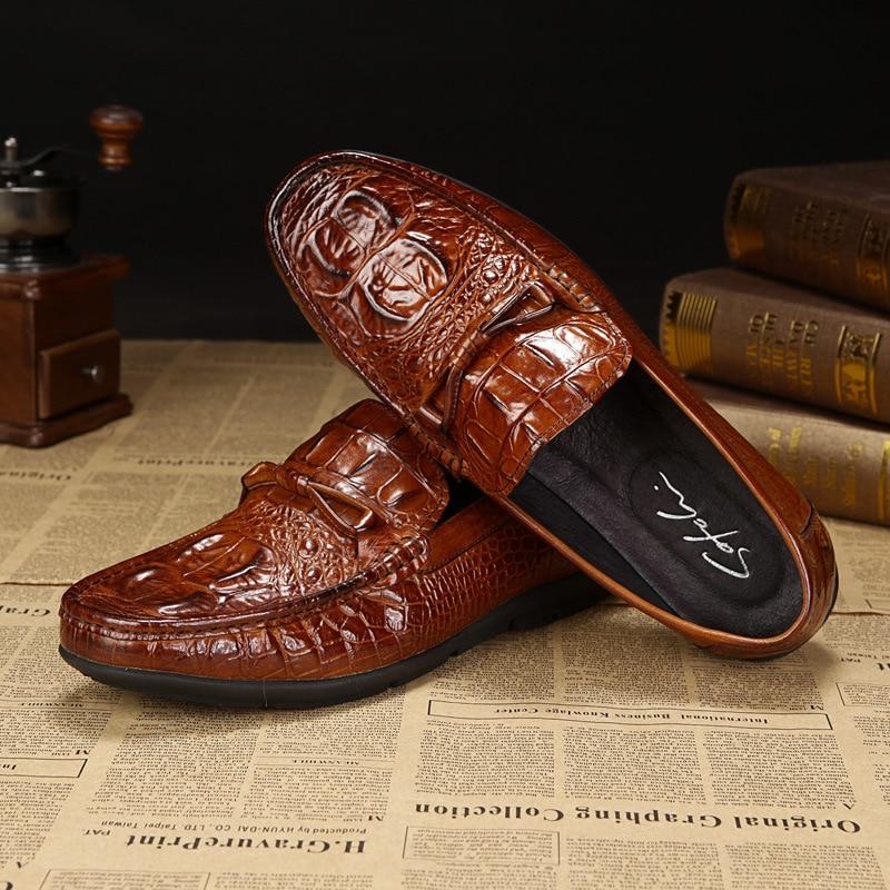 2017 Genuine Leather Oxford Shoes For Men, Casual Men Oxford, Men Crocodile Shoes, Men Dress Shoes slip-on A684<br><br>Aliexpress