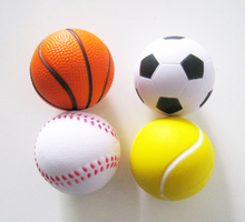 free shipping ,2pcs /lot sport pu stress ball,pu basketball,pu baseball,squeeze ball ,anti stress ball 6.3cm diameter GYH