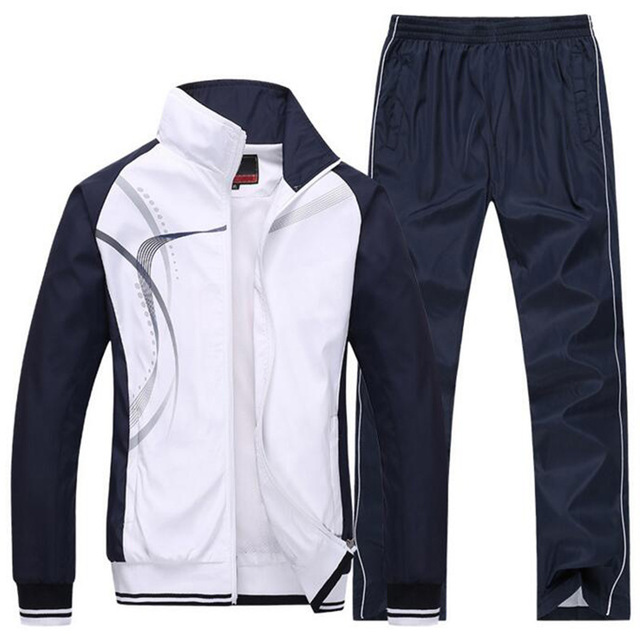 5color mens Sportswear Sports suits brand Tracksuits mens running sets clothes Jacket+Pants cool spring style 5xl plus size<br>