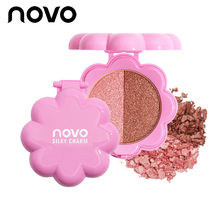 Professional Glowing Pigmented Eyeshadow Palette Long Lasting 2 Colors Glitter Shimmer Eye Shadow Cosmetic Nude Mineral Makeup(China)