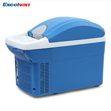 Portable 12V 8L Mini Car Fridge Warming and Cooling Vehicle Refrigerator Travel Cooler and Warmer Box(China)