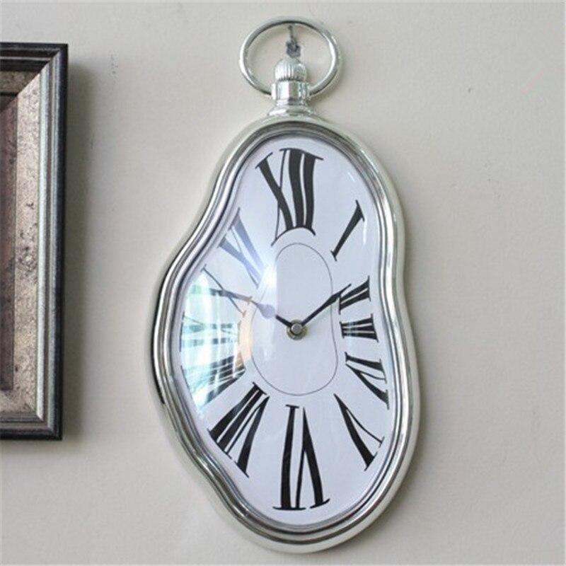 Украшения дома античный дизайн плавления часы искаженные движение аккумулятор электронные часы стены старинных подарок(China)