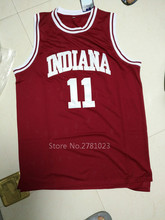 Sorrynam Cheap Basketball Jerseys 11# Isiah Thomas Indiana Hoosiers College Stitched Vintage Throwback Burgundy Red Jersey