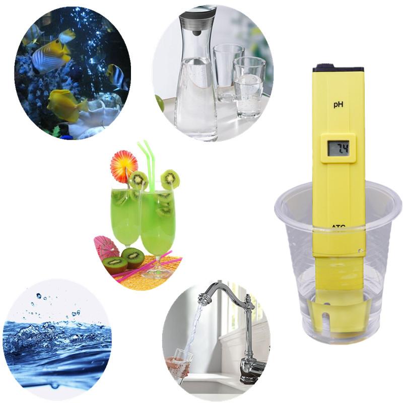 BY EXDEX/DHL 100pcs ATC PH METER Water Acid Tester DIGITAL Meter Pool Water Acidity Pocket Pen with retail box 8