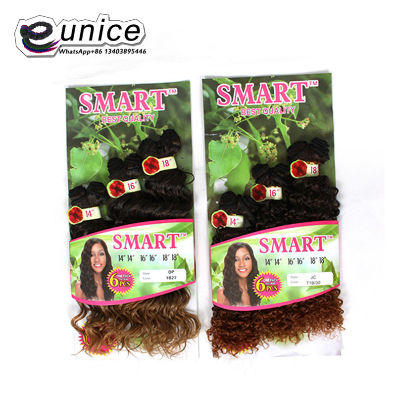 Jerry Curly Weave Hair Extension Sew in Synthetic weaving Wefts (2)