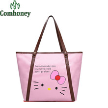Hello Kitty Handbag Cartoon Women Handbags Waterproof Shopping Bag Women's Hand Bag Girls Casual Shoulder Bag Bolsa de Feminina