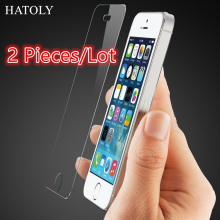 sFor Glass iPhone 5s Tempered Glass for iPhone 5s Screen Protector for Apple iPhone 5 5c SE Glass HD Protective Thin Film ^