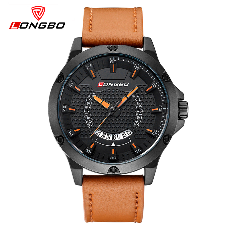 LONGBO Fashion Hollow Dial Unique Design Men Watch Leather Waterproof Sport Wrist Watches Military Dropshipping 3010<br>