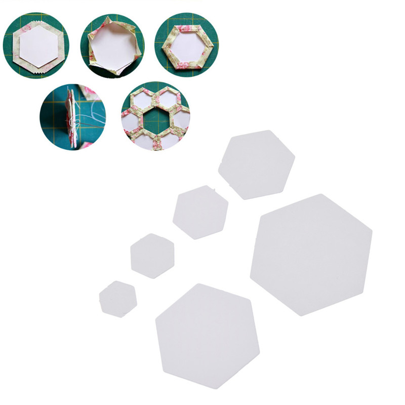 200Pcs Hexagon Paper Quilting Templates Piecing Patchwork Template 22mm 26mm
