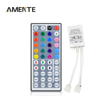 44Keys 24Keys DC12V Dimmer IR Remote LED RGB Strip Light Controller Dual Connectors Output For 2835 5630 5050 7020 Lamp String