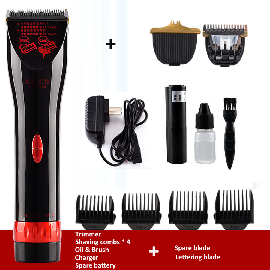 Brand Professional Electric Clippers Rechargeable Lettering Carving Hair Trimmer for Men Child Barber Salon Hair Cutting Machine<br><br>Aliexpress