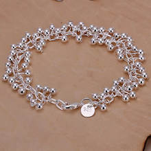 Promotion! Wholesale 925 silver bracelet, 925 silver fashion jewelry Purple Bracelet H017