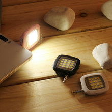 New Mini 16 LED Night Using Selfie Enhancing Dimmable Flash Light Cellphone Camera Flash Fill-in Lamp For Smartphone LP1278