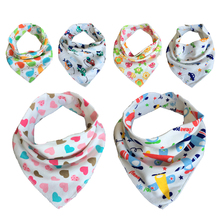 1pc retail!Cotton Baby Towel Toddler Newborn Triangle Scarf Babero Girls Feeding Smock Infant Bibs Burp Cloths Baby Accessories(China)