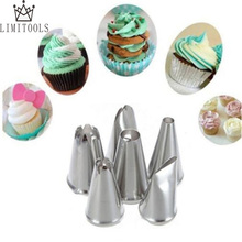 6pcs/set DIY Stainless Steel Icing Piping Nozzles Pastry Tips Fondant Cup Cake decorating tools for kitchen(China)