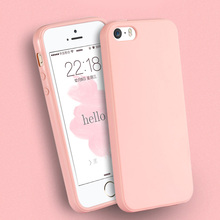 Solid Candy Color TPU Rubber Case Cover for iPhone 7 7 Plus Silicon Case Glossy Back Cover for iPhone 4 4s 5C 6 6s 6 Plus