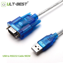 ULT-Best USB to RS232 COM Port Serial PDA 9 DB9 Pin Cable Adapter for Windows 7 8.1 XP Vista Mac OS USB RS232 COM Cabo Cord 90CM(China)
