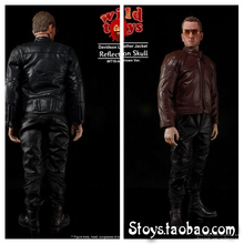Wild Toys 1/6 WT19 Motorcycle Leather Mens Jacket Suit Skull Pattern