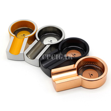 COHIBA Gadgets Titanium Alloy Portable Cigar Ashtray Mini Travel Cigarette Cigars Ashtrays 1 Cigar Rest Holder Cuba Accessories(China)