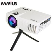 Wimius LCD Projetor Full HD 1200 lumens Mini LED Proyector Home Theater Cinema Beamer Multimedia Video Game Projector For DVD PC