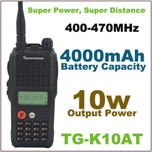 10Watt Output Power walkie talkie Super Power Super Distance TG-K10AT UHF 400-470MHz  Two-way Radio with 4000mAh Battery Pack