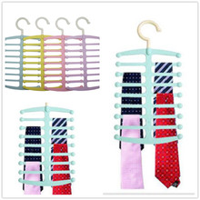 Best Promotion! Fishbone Shape Hanger Necktie Tie Towels Belt Shawl Scarf Rack Space Saving Lowest Price(China)