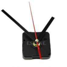 Free shipping Quartz Clock Movement Mechanism DIY Repair Parts Black + Hands