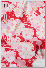 140CM*50CM RED flower Cherry blossoms Japanese Kimono cotton fabric dressmaking fabric bag cushion crafts sewing material tissue(China)