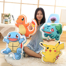40cm Lovely Pikachu plush kids toys Pillow Snorlax/Bulbasaur/Charmander/Squirtle Cushion Stuffed toys(China)