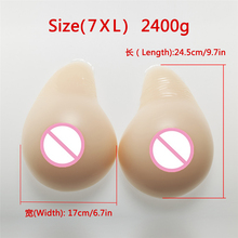 Buy Artificial Breast 2400g/Pair Crossdress Drag Queen Breast Prosthesis Fake Boobs Shemale Transvestite False Boobs Silicone Breast
