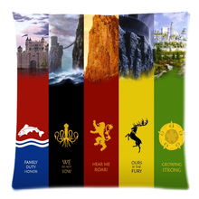 45x45cm Game of Thrones Polyester cushion cover decorative two side print throw pillows case for sofa home decor pillowcase