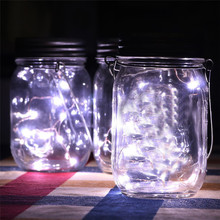 Dropshipping Wholesale LED Fairy Light Solar Powered For Mason Jar Lid Insert Color Changing Garden Decor(China)