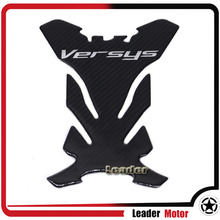 For KAWASAKI Versys 650 Versys 1000 Versys 250 Motorcycle 3D Carbon Fiber Tank Gas Cap Pad Filler Cover Sticker Decals