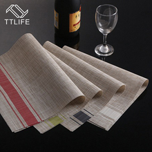 TTLIFE 2PCS/Set Placemats for Breakfast Table Place Mat Kitchen Accessories Wine Cup Mat Bar Restaurant Table Mat