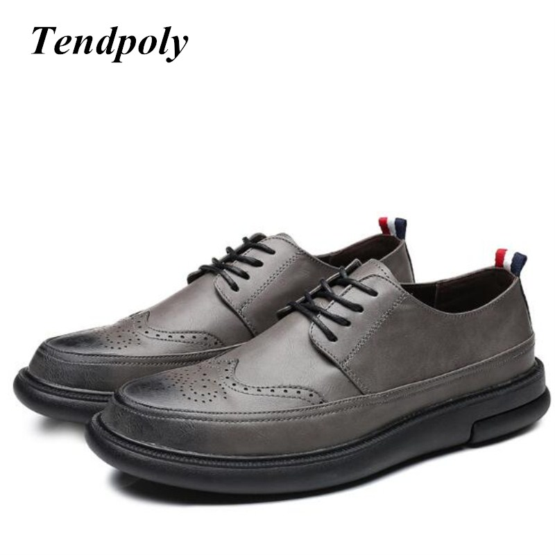 New retro British style fashion mens shoes four seasons business increased interior trend shoes popular Joker thick casual <br>