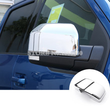 ABS Side Rearview Mirror Cover Trim Cover 2pcs For Ford F150 F-150 2015-2017