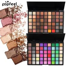 POPFEEL Waterproof 54 Colors Eyes Shadow Cosmetics Mineral Powder Shimmer Contour Glitter Matte Eyeshadow Palette Eye Makeup Z3(China)