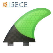 Honeycomb Fiberglass Surfboard Fins Thruster FCS Half Carbon Fiber Fins Surf Fin G5 M Size for Sale(China)