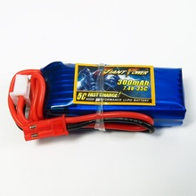 Giant Power 2S 300mAh 7.4V 35C Lipo Battery For Mini RC Helicopter Quadcopter Airplane Model F3P