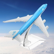 NEW 16cm Airplane Metal Plane Model Aircraft B747 KLM Aeroplane Scale Airplane Desk Model Toy Children Adult Gift Toys(China)