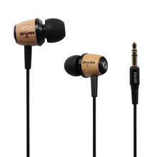 AWEI Q9 Wooden in Ear Earphones Headset Super Bass Stereo 3.5mm Jack for PC Smart Phone MP3 MP4(China)