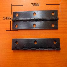 75*24MM  Packaging hinge  Box  Gift Hinge  Metal hinge  Electrophoresis big black hole hinge 6 Wholesale