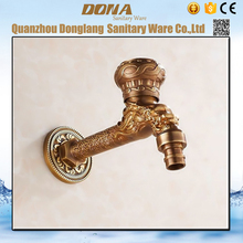 Free shipping Cycle handle dragon design washing machine tap with polished chrome surface inwall bathroom mixer tap