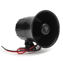12V 15W Electric Car Truck Alarm Siren Horn Loud Speaker Auto Sound New Universal Wehicle Car Motor Motorcycles Speaker Horns(China)