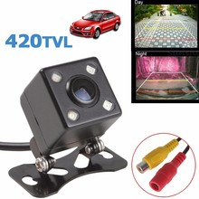 170 Degree Vehicle Camera Car Reverse Camera Night Vision 4 LED Waterproof Guide Line, DC12V Rear View Camera White Balance(China)
